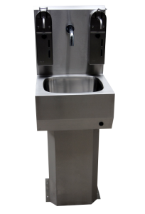 Wash-basin with a soap dispenser