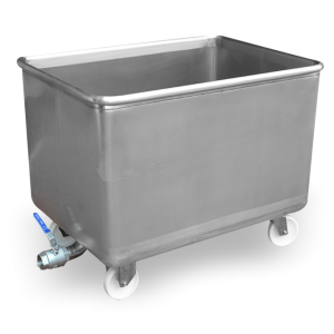 500L tank with an outlet